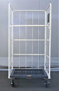スターワン かご車 キャスター仕様 床面:樹脂製 アイボリー MEC-P4 送料無料