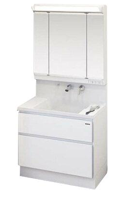 タカラ ホーロー洗面化粧台 ファミーユ 洗面本体 間口900mm 2段スライドタイプ+3面鏡 扉色ホワイト