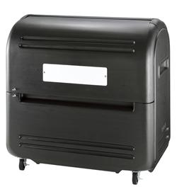 リッチェル ワイドペール500K キャスター付 ブラック[業務用/マンション/アパート/大容量/ゴミ箱/ゴミストッカー]