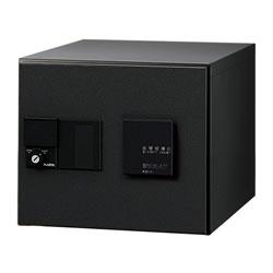 【捺印付】ナスタ デリバリーボックス(メカ式) D-ALL プッシュボタン錠 前入前出 ブラック KS-TLJ360-F300N-BK ※受注生産品