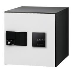 【捺印付】ナスタ デリバリーボックス(メカ式) D-ALL プッシュボタン錠 前入前出 ホワイト KS-TLJ360-F360N-W ※受注生産品