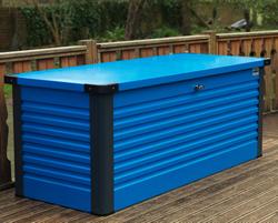 ガーデナップ 大容量屋外収納庫 パティオボックス TM7 スモール コーンフラワーブルー×アントラシット(BA) ※お客様組立品※受注生産品