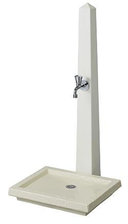 トーシン 水栓柱一式セット 水栓柱unトーレSC-UN-TORRE-WH+ガーデンパンunトーレGPT-UN-TORREG-WH+蛇口JA-GRH-COSTA-L