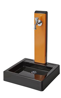 トーシン 水栓柱一式セット 水栓柱アンフェア ヴォーグ(塗)SC-UNFAIR-VG4-OR+ガーデンパンNEWヴォーグGPT-NVGG-BK+蛇口JA-GRH-COSTA-L