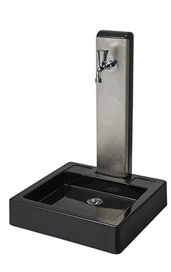 トーシン 水栓柱一式セット 水栓柱アンフェア ヴォーグ(白金箔)SC-UNFAIR-VG4-PT+ガーデンパンNEWヴォーグGPT-NVGG-BK+蛇口JA-GRH-COSTA-L※受注生産品