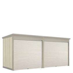タクボ物置 Mr.シャッターマン ダンディ WS-2229-2 一般型・標準屋根 2連棟[収納庫/収納/屋外収納庫/屋外/倉庫/中型/大型]