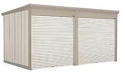 タクボ物置 Mr.シャッターマン ダンディ WS-2529-2 一般型 標準屋根 2連棟[収納庫/収納/屋外収納庫/屋外/倉庫/中型/大型]