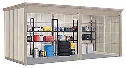 タクボ物置 Mr.シャッターマン ダンディ WS-2926-2 一般型 標準屋根 2連棟[収納庫/収納/屋外収納庫/屋外/倉庫/中型/大型]