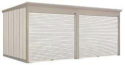 タクボ物置 Mr.シャッターマン ダンディ WS-2929-2 一般型 標準屋根 2連棟[収納庫/収納/屋外収納庫/屋外/倉庫/中型/大型]