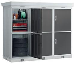 イナバ物置 ドアタイプ連続型 NXD-08WLg 基本棟(2連棟) 豪雪型 [収納庫/収納/屋外収納庫/屋外/倉庫/激安/価格/小屋/ガーデニング/庭/いなば/いなば物置/稲葉/ものおき/物置き]