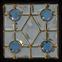 遮音・断熱・防犯性のステンドグラス ピュアグラス Dサイズ 200mmスクエア SH-D01 [ステンドグラス/ガラス/インテリア/窓/小窓/室内/屋内]