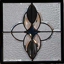 遮音・断熱・防犯性のステンドグラス ピュアグラス Eサイズ 300mmスクエア SH-E02 [ステンドグラス/ガラス/インテリア/窓/小窓/室内/屋内]