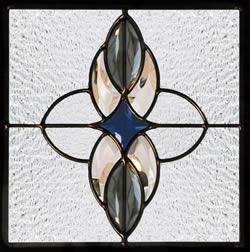 遮音・断熱・防犯性のステンドグラス ピュアグラス Dサイズ 200mmスクエア SH-D04 [ステンドグラス/ガラス/インテリア/窓/小窓/室内/屋内]