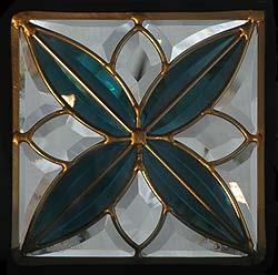 遮音・断熱・防犯性のステンドグラス ピュアグラス Dサイズ 200mmスクエア SH-D05 [ステンドグラス/ガラス/インテリア/窓/小窓/室内/屋内]