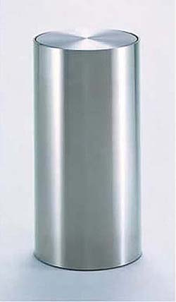 テラモト 屋内用 ステン製屑入れ 屑入DM-030(丸型) [アミューズメント/パーク/施設/設置/業務用/分別/ごみ/ゴミ箱]