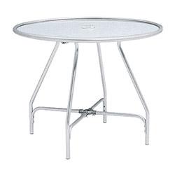テラモト 金属製 ガーデンアルミテーブル(組立式) MZ6100300 ※お客様組立品