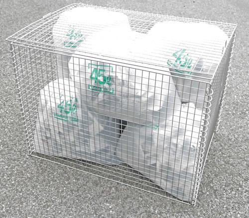 エリア限定送料無料 ※北海道の送料は要見積 サンキン ゴミステーション 大型ゴミ箱 折たたみ可能なゴミ収集庫 リサイクルボックス 大規模セール GPE-310 ゴミストッカー 幅900×奥行600×高さ650mm 仕切板なし 折畳 ファッション通販 町内会 大容量 自治会 ゴミ箱