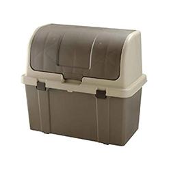 ゴミステーション 大型ゴミ箱 リッチェル 分別ストッカー ブラウン W220C-1P[業務用/マンション/アパート/大容量/ゴミ箱]