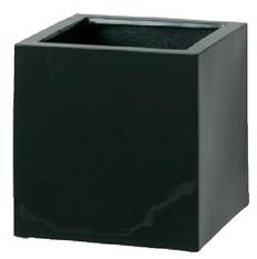 タカショー 【送料無料】プランターキューブポット エカール(大)ブラック COP-09LBK 365272 幅500×奥行500×高さ500mm
