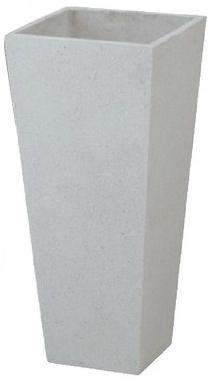 タカショー 【送料無料】プランター ロングポット アレグロ(大)ホワイト PIA-L01LW 367993 幅420×奥行420×高さ900mm  KSK
