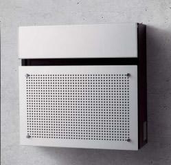 パナソニック サインポストFASUS(フェイサス) FFフラットタイプ パネル:アルミパンチング CTCR2001S 前入れ前取り出し 【送料無料】