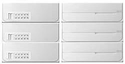 【3戸用】【本体樹脂製】ナスタ 大型郵便対応集合郵便受箱(ヨコ型) 前入後出 D-ALL 可変プッシュボタン錠 ホワイト KS-MB4102PY-3PK-W