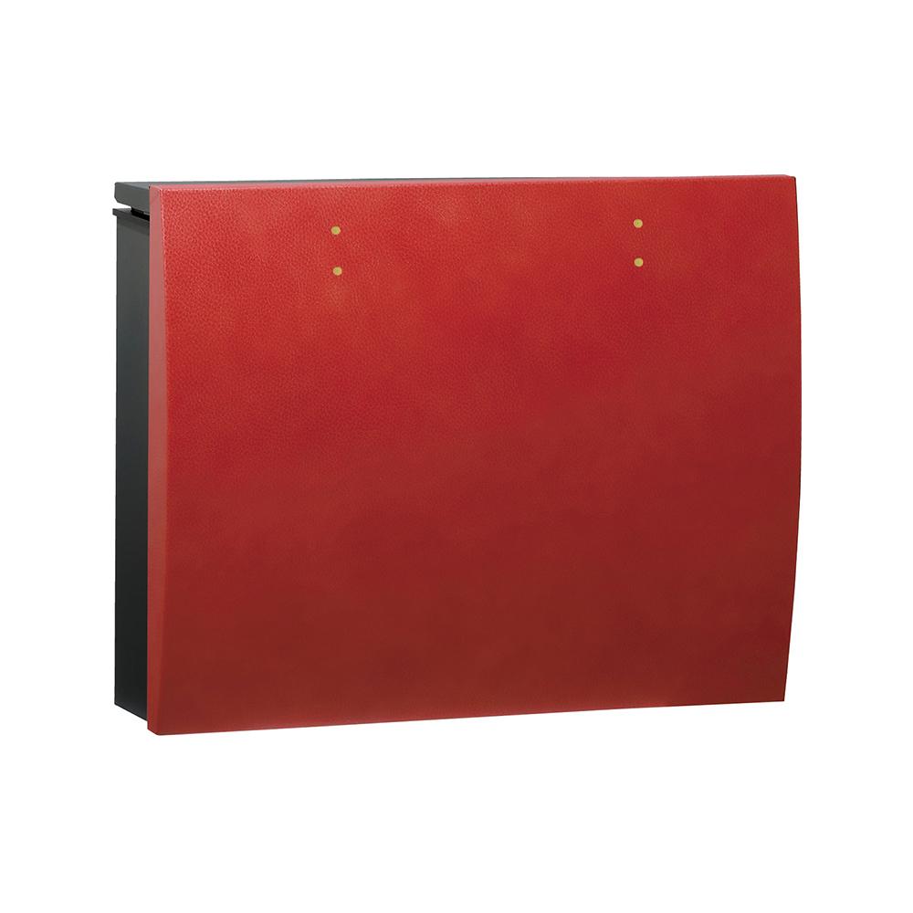 ユニソン 壁付けポスト bolsa ボルサ シリンダー錠 BKレザーレッド 324301110