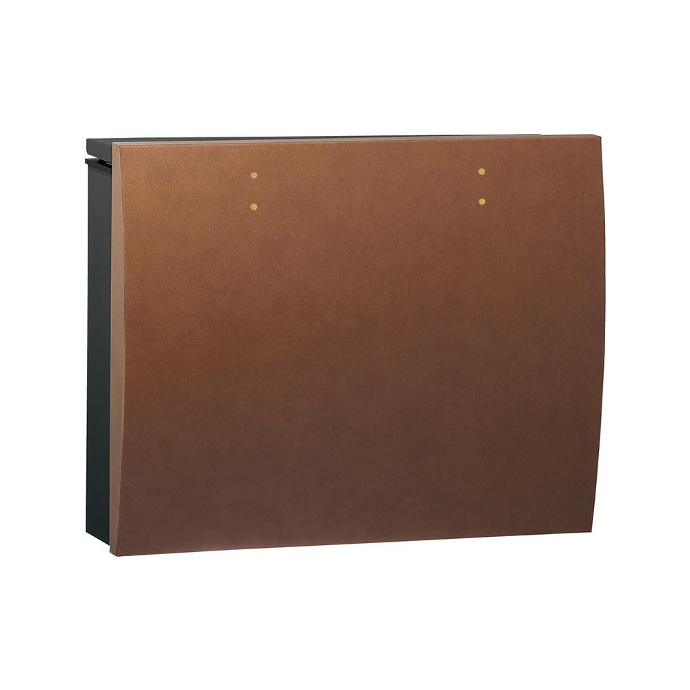 ユニソン 壁付けポスト bolsa ボルサ シリンダー錠 BKレザーキャメル 324301310