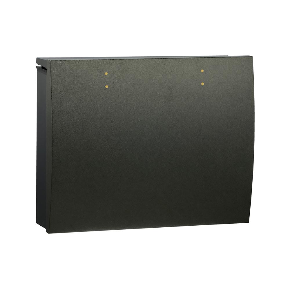 ユニソン 壁付けポスト bolsa ボルサ シリンダー錠 BKブラック 324301410