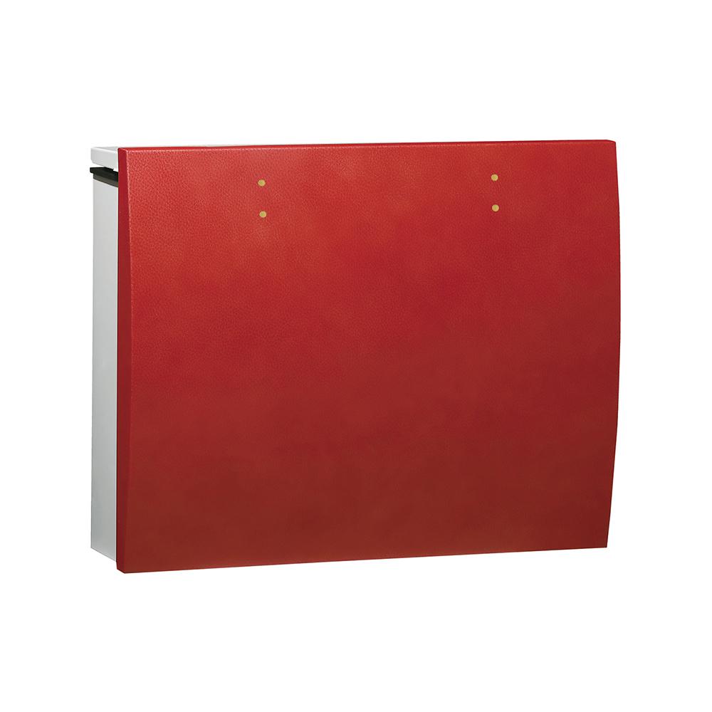 ユニソン 壁付けポスト bolsa ボルサ ダイヤル錠 SLレザーレッド 324302120