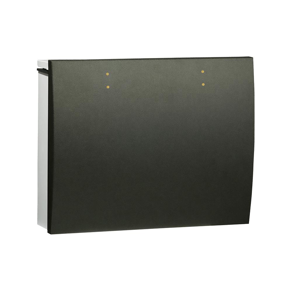 ユニソン 壁付けポスト bolsa ボルサ ダイヤル錠 SLレザーブラック 324302420