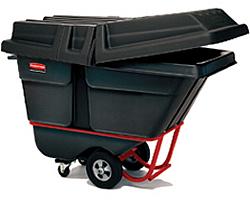ゴミステーション 大型ゴミ箱 ラバーメイド ティルトトラック 1315 ブラック (フタ1317付き) ※受注生産品