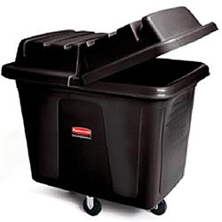 ゴミステーション 大型ゴミ箱 ラバーメイド キューブトラック 4612 ブラック色 (フタ4613付き) ※受注生産品
