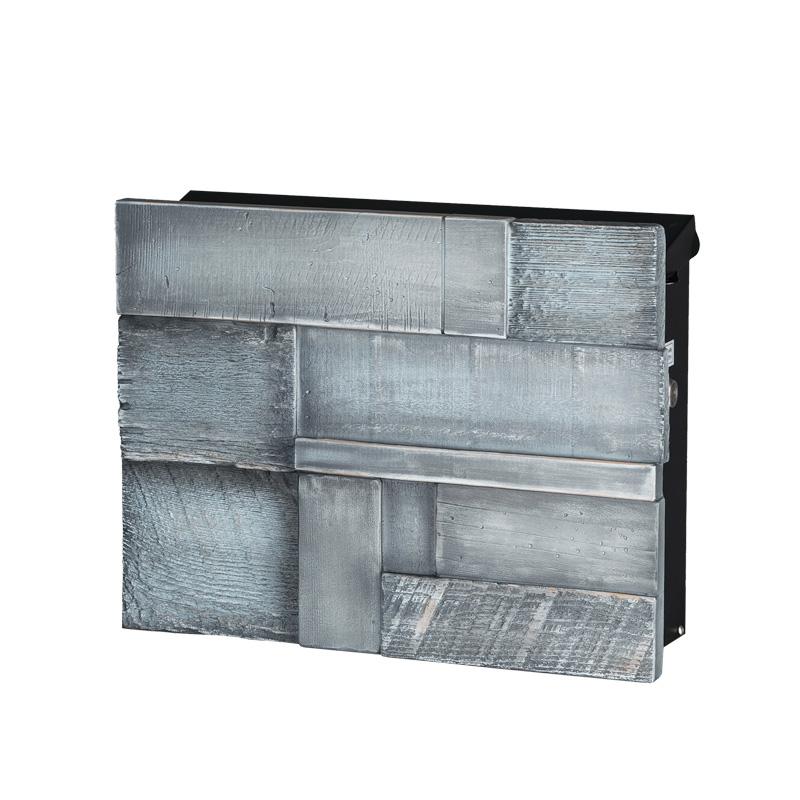 オンリーワン 壁付け郵便ポスト ノイエキューブ ブロックウッド ヴィンテージブルー GM1-E6B2