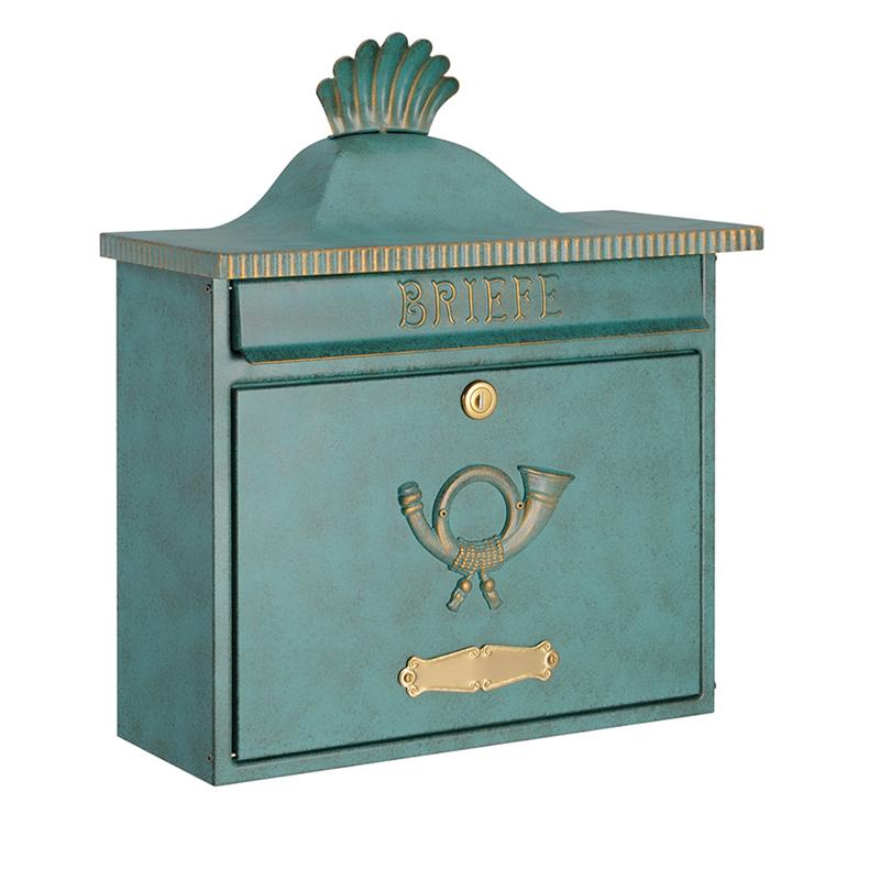 オンリーワン 郵便ポスト  クラシカルポスト XA シリンダー錠 グリーン/ゴールド MA1-64056014 送料無料