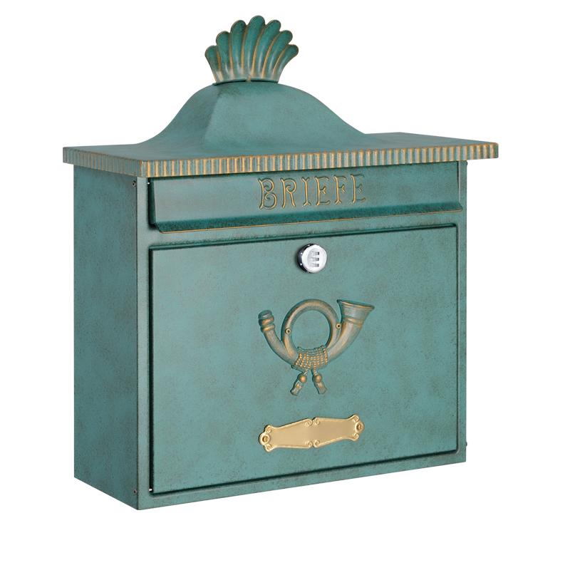 オンリーワン 郵便ポスト  クラシカルポスト XA ダイヤル錠 グリーン/ゴールド MA1-64056014D 送料無料
