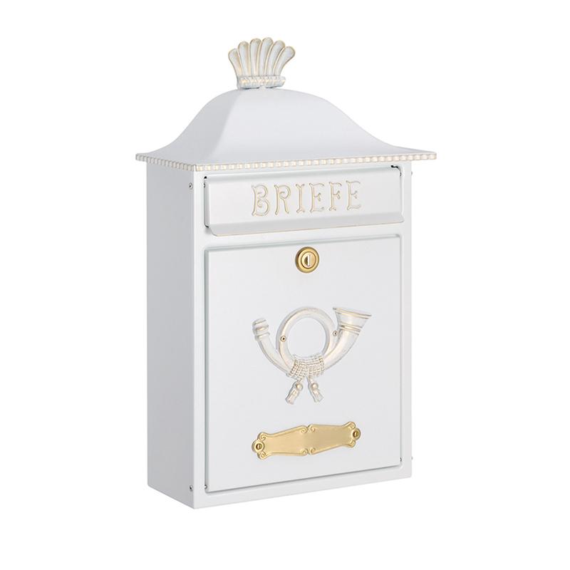 オンリーワン 郵便ポスト  クラシカルポスト B ホワイト/ゴールド MA1-64063008 送料無料