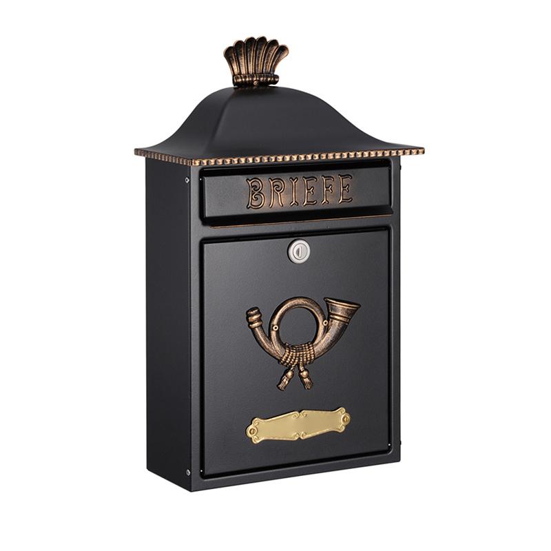 オンリーワン 郵便ポスト  クラシカルポスト B ブラック/ゴールド MA1-64063027 送料無料