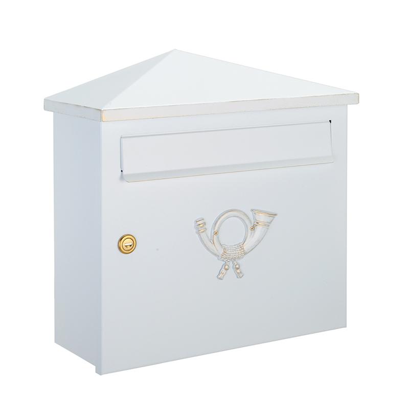 オンリーワン 郵便ポスト  クラシカルポスト XH シリンダー錠 ホワイト/ゴールド MA1-64283008 送料無料