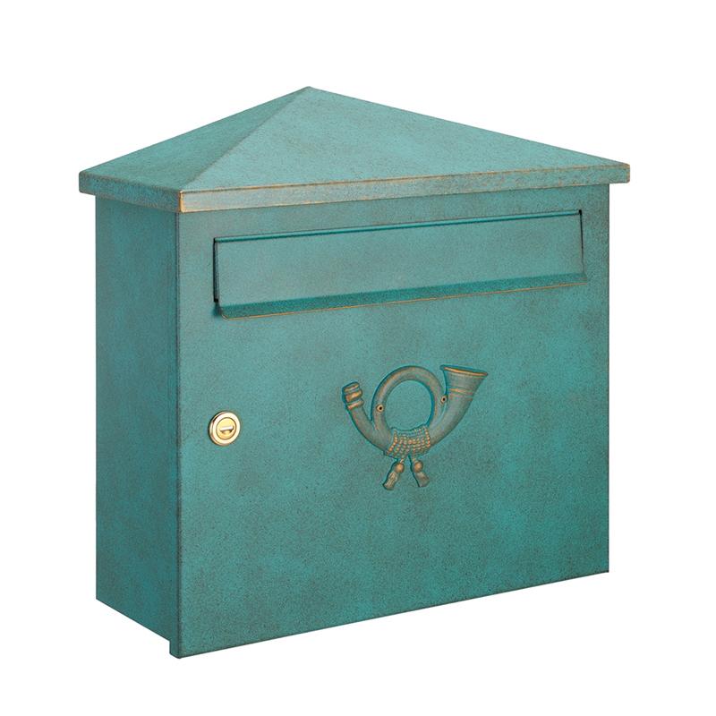 オンリーワン 郵便ポスト  クラシカルポスト XH シリンダー錠 グリーン/ゴールド MA1-64283014 送料無料