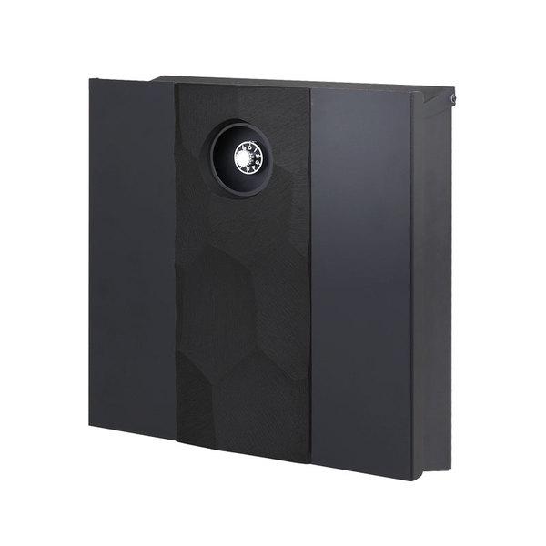 オンリーワン 壁付ポスト イル ヴァリオ エトナ フロストブラック ブラックマットNA1-IV23FBM