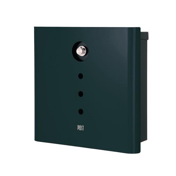 オンリーワン 壁付け郵便ポスト ヴァリオ ネオ アルファ 壁掛けタイプ(ダイヤル錠付) フォレストグリーン NA1-OA01FG