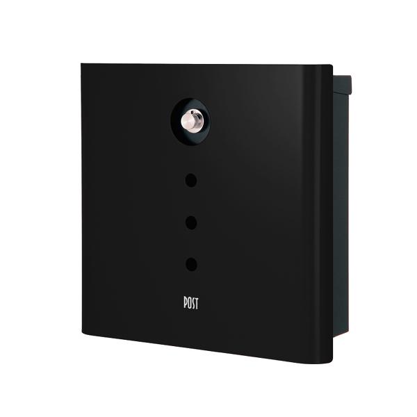 オンリーワン 壁付け郵便ポスト ヴァリオ ネオ アルファ 壁掛けタイプ(ダイヤル錠付) グロスブラック NA1-OA01GB
