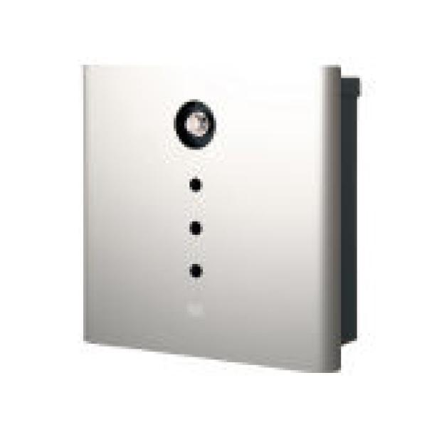 オンリーワン 壁付け郵便ポスト ヴァリオ ネオ アルファ 壁掛けタイプ(ダイヤル錠付) シルバー NA1-OA01SI