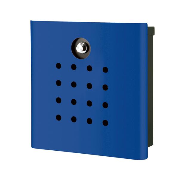 オンリーワン 壁付け郵便ポスト ヴァリオ ネオ パンチ 壁掛けタイプ(ダイヤル錠付) ロイヤルブルー NA1-OA02YB