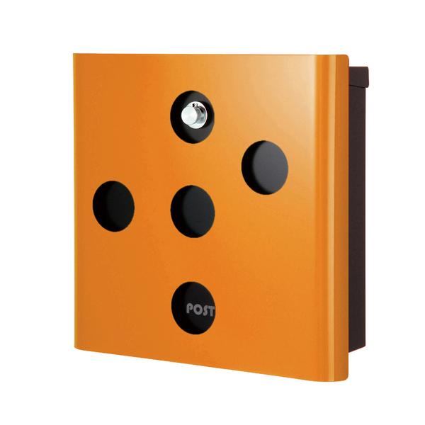 オンリーワン 壁付け郵便ポスト ヴァリオ ネオ イレギュラー 壁掛けタイプ(ダイヤル錠付) オレンジ NA1-OA03OR