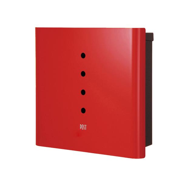 オンリーワン 壁付け郵便ポスト ヴァリオ ネオ アルファ 壁掛けタイプ(鍵無し) レッド NA1-ON01RE