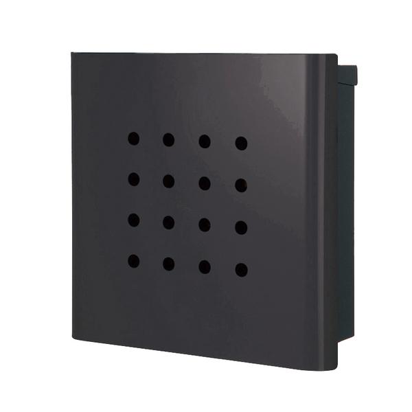 オンリーワン 壁付け郵便ポスト ヴァリオ ネオ パンチ 壁掛けタイプ(鍵無し) チャコールグレー NA1-ON02CG