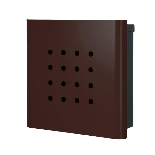 オンリーワン 壁付け郵便ポスト ヴァリオ ネオ パンチ 壁掛けタイプ(鍵無し) フォレストブラウン NA1-ON02FB