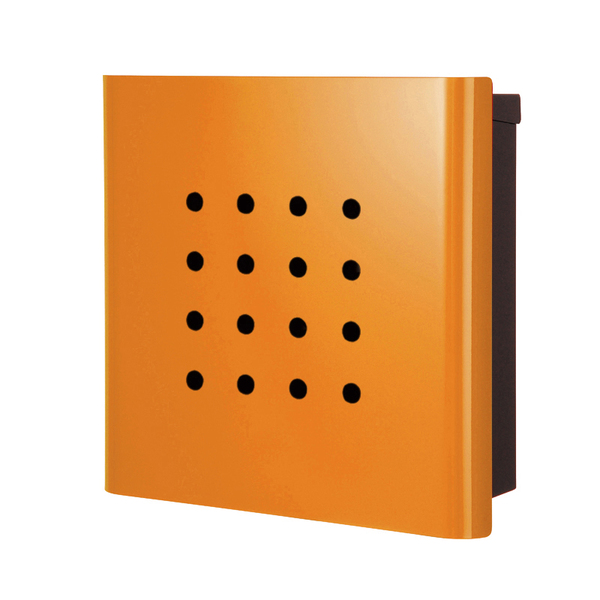 オンリーワン 壁付け郵便ポスト ヴァリオ ネオ パンチ 壁掛けタイプ(鍵無し) オレンジ NA1-ON02OR